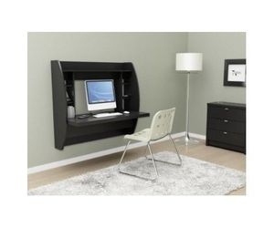 Computer Office Desk Floating Shelves Wall Mount Livingroom Den Storage Organize, an item from the 'Let's Put Things in Order' hand-picked list