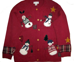 NWT Croft & Barrow Red Cardigan Ugly Christmas Sweater 1X, an item from the 'Ugly Sweater Party' hand-picked list