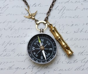 Working Compass Necklace - Lost at Sea -Captains Whistle -Working Compass and Wh, an item from the 'Gifts for Grads' hand-picked list