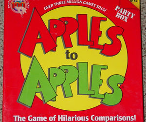 APPLES TO APPLES PARTY BOX GAME 2007 OUT OF THE BOX 8 PACKS FACTORY SEALED CARDS, an item from the 'Games People Play' hand-picked list