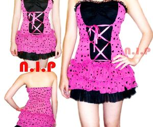Party Polka Dot Lace up Tulle Dress Pin Up Hot Topic Punk Goth Club Rockabilly, an item from the 'Connecting the dots' hand-picked list