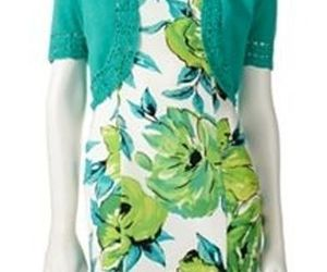 NEW AB Studio Green floral Sheath Work dress with cover up. Size 4. Spring Dress, an item from the 'Green is the Color of Spring and St Patty's Day' hand-picked list