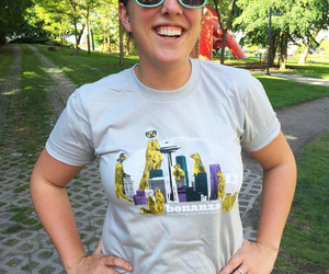 """Bonanza """"Mongoose Space Needle"""" T-Shirt, an item from the 'Bonanza Swag' hand-picked list"""