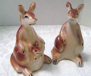 Vintage Kangaroo Salt & Pepper Shakers from Japan, an item from the 'Community Picks: Invite An Animal to Your Table' hand-picked list