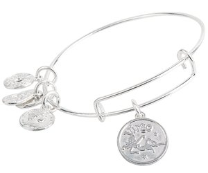 Virgo Pendant Bangle Expandable Bracelet Shiny Silver Tone , an item from the 'Zodiac Shrine' hand-picked list