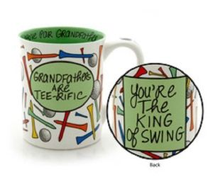 Father's Day or other holiday Grandfather Golfer Mug gag King of Swing, an item from the 'Golf is my thing' hand-picked list