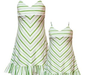Rare Editions Girls 2T-6X GREEN WHITE STRIPED BEADED STRAPS Spring Summer Par..., an item from the 'Green is the Color of Spring and St Patty's Day' hand-picked list