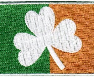 Ireland Clover Flag Embroidered Patch Irish Shamrock Iron-On Emblem, an item from the 'St. Patrick's Day' hand-picked list