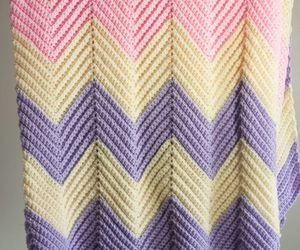 50 inch by 47 inch Pastel Chevron Afghan Throw Lap Blanket, an item from the 'Quilts and Throws' hand-picked list