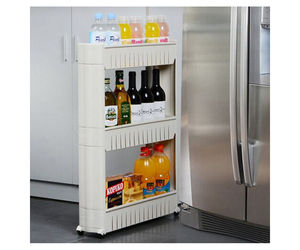 3 Tier Rolling Slide Out Storage Tower Kitchen Bathroom or Laundry Rack Organize, an item from the 'Let's Put Things in Order' hand-picked list