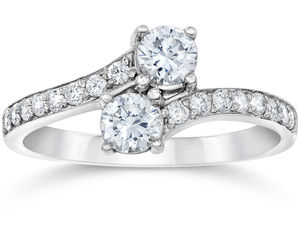 1.50Ct Forever Us 2 Stone Two Diamond Ring 14K White Gold, an item from the 'The Sweetest Ring' hand-picked list