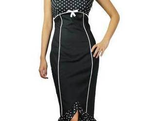 Size 28 Black & White Polka Dot Pin-up Pencil Wiggle Dress ~ 1950's ~ 4X, an item from the 'Connecting the dots' hand-picked list