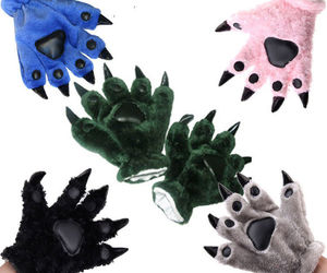 Plush Party Kigurumi Panda Bear Cat Animal Paw Claw Cosplay Fancy Dress Gloves, an item from the 'Kids Hats, Mittens, and Scarves' hand-picked list
