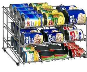 Soup Can Rack Chrome Organize It All Pantry Cabinet Kitchen Storage Food Shelf, an item from the 'Let's Put Things in Order' hand-picked list