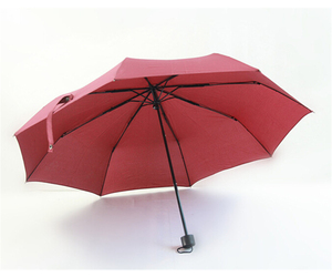 Folding Umbrella Compact Light weight Anti-UV Rain Sun Umbrella Wine Red, an item from the 'Community Picks: April Showers...' hand-picked list