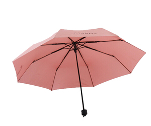 Folding Umbrella Compact Light weight Anti-UV Rain Sun Umbrella Light Pink, an item from the 'Community Picks: April Showers...' hand-picked list