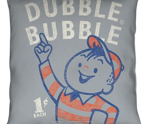 Dubble Bubble Pointing Throw Pillow White 18X18, an item from the 'Throw Pillows' hand-picked list