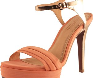 Klimini Women's Peach Leather Platform Ankle Strap Sandal 5 US, an item from the 'Community Picks: Just Peachy' hand-picked list
