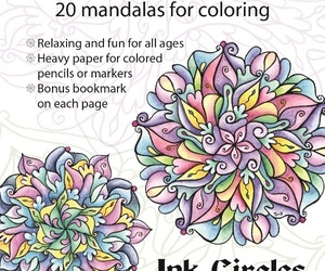 CLEARANCE Peace of Art Coloring Book mandalas adult coloring Ink Circles , an item from the 'Color My World...' hand-picked list