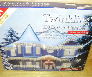 Holiday Time Twinkling White Christmas Lights Wedding Light 150Lights White Wire, an item from the 'It's the Holiday Season' hand-picked list