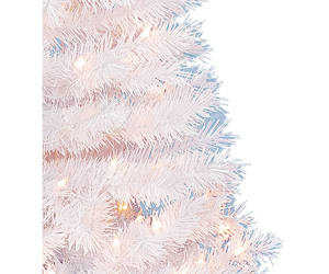 Artificial Christmas Tree Spruce White Xmas Holiday Decor 4 FT 150 Clear Lights , an item from the 'It's the Holiday Season' hand-picked list
