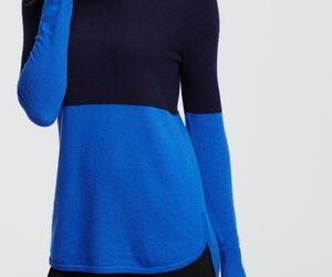 Ann Taylor colorblock cowl-neck cashmere sweater, size XL, NWT, an item from the 'Fuzzy Feels' hand-picked list