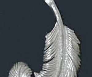 COOL Sterling Silver 925 Swan Feather Celtic Good Luck Charm, an item from the 'Practice Safe Hex' hand-picked list