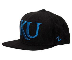 Zephyr Kansas Jayhawks College Flash Custom Snapback Hat Black FLSHCKAN, an item from the 'Awesome Baseball Hats' hand-picked list