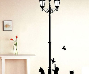 Popular Aciet Lamp Cats Birds Wall sticker Wall Mural s Wallpaper, an item from the 'Preying Kitties...' hand-picked list