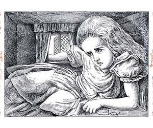 Alice in Wonderland: Alice Grows Large by John Tenniel - Art Print, an item from the 'We're All Mad Here' hand-picked list