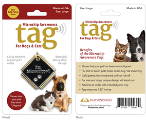 Microchip Awareness Pet ID Tag for Dogs and Cats (Large), an item from the 'Dog and Cat Lovers' hand-picked list