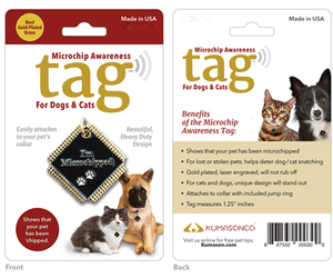 Microchip Awareness Pet ID Tag for Dogs and Cats (Small), an item from the 'Dog and Cat Lovers' hand-picked list