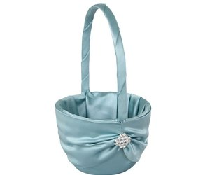 Ivy Lane Design Garbo Collection Flower Girl Basket for Weddings, Ocean Blue, an item from the 'A Reception to Remember' hand-picked list