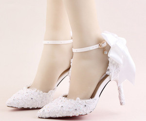 Women Ivory White Lace Wedding Heels,Girls Bridal Shoes US Size 6,7,8,9,10,11, an item from the 'Life is short. Buy the shoes.' hand-picked list