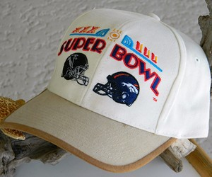 Super Bowl XXXIII NFL Football Cap Hat Denver Bronco New Tag, an item from the 'Community Picks: Sporty Dad' hand-picked list