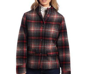 WOOLRICH Womens S/SMALL MAPLE RUN Button UP WOOL Quilt Lined BLACK PLAID Jacket, an item from the 'Mad for Plaid' hand-picked list