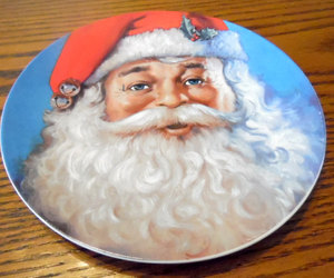 Vintage Santa plate by Michael Jarezko.  Traditional Santa, Christmas. holiday p, an item from the 'Santas & Snowmen' hand-picked list