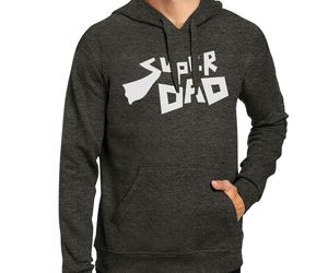 Super Dad Hoodie Perfect Fathers Day Gifts Fleece Pullover Hoodie, an item from the 'Sherpa and Fleece Hoodies' hand-picked list