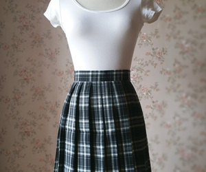 Black White Plaid Skirt Women Girl Short Black and White Tartan Skirt Plus Size, an item from the 'Mad for Plaid' hand-picked list