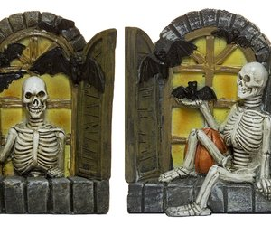 Halloween Decor - Set Of 2 3.5 Inch Skeletons In Windows Figurines, an item from the 'Spooky Home Decor' hand-picked list