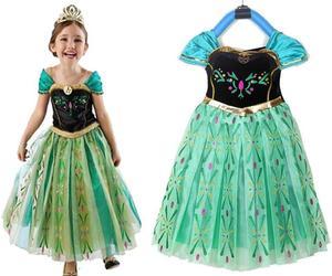 Kids Anna Coronation Costume, Anna Coronation Dress Halloween Costume for Girls, an item from the 'Kids Halloween Costumes' hand-picked list