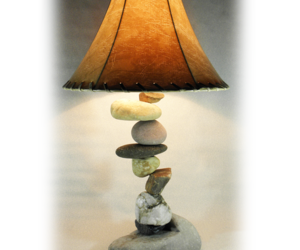 FALLING  ROCK  Rustic Table Lamp. fits most decors, like, western, southwestern, an item from the 'Fall Table Decor' hand-picked list