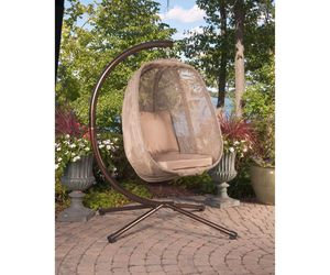 Hanging Egg Patio Swing w Base Outdoor Patio Furniture Hammock, an item from the 'Summer Outdoor Furniture' hand-picked list