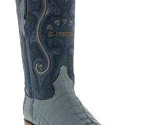 Mens Genuine Baby Blue Alligator Crocodile Leather Western Cowboy Boots 3x Toe, an item from the 'The Kit and Caboodle ' hand-picked list