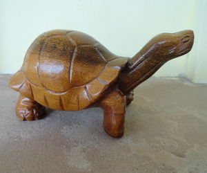 "Tortoise Carving in Wood Brown Sculpture Galapagos islands 1990 Santa Cruz, an item from the 'ڰۣڿ☸""YOU`RE A SLOW BOKE"".ڰۣڿ☸' hand-picked list"