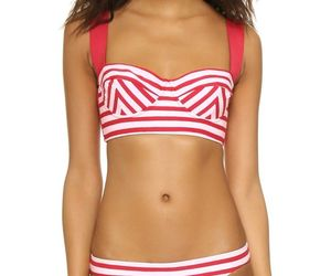 NWT KATE SPADE swimsuit XS bikini 2PC set bralette underwire poppy corset style, an item from the 'Swimwear' hand-picked list