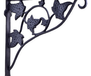 Wall Shelf Bracket Brace With Plant Hanger Flower Basket Hook, an item from the 'Leaf It Be' hand-picked list