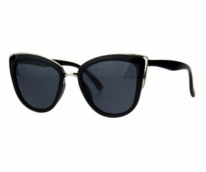 Womens Cateye Butterfly Frame Sunglasses Metal Top Double Frame UV 400, an item from the 'Stylish Sunnies' hand-picked list
