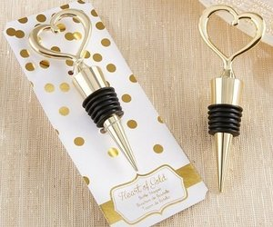 "Heart of Gold"" Bottle Stopper by Exclusively Weddings, an item from the 'A Reception to Remember' hand-picked list"