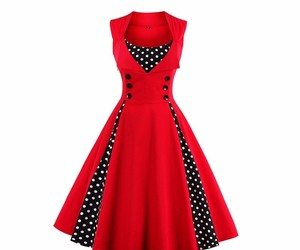 Women Retro 1950s 60s Dress Polka Dots Pinup Rockabilly Sexy Party Dresses, an item from the 'Connecting the dots' hand-picked list